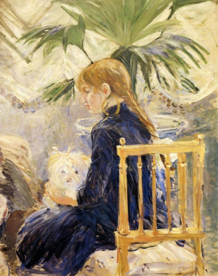 Berthe Morisot. A girl with a dog