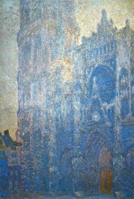 Клод Моне. Руанский собор, главный вход и Тур д'Альбан, утренний эффект