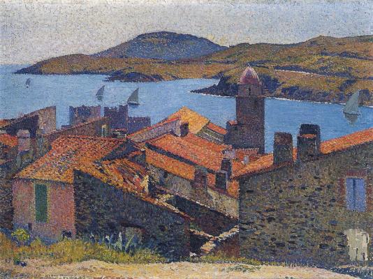 Henri Martin. Red roof