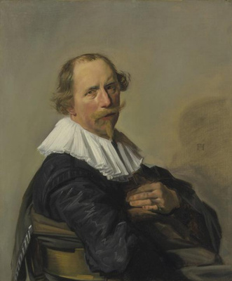 Франс Хальс. Портрет мужчины, держащегося за спинку стула