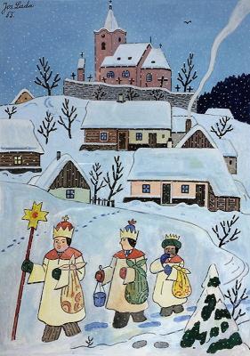 Josef Lada. Three kings