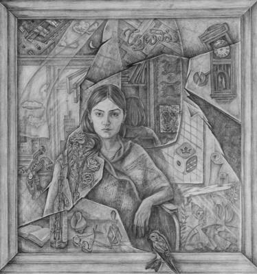 Svetlana Sergeevna Malyodnik. Mirror (Self Portrait)