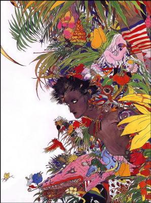 Yoshitaka Amano. The secret of Paradise