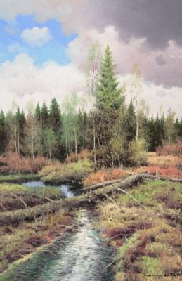 Vasily Ivanovich Gribennikov. Forest stream