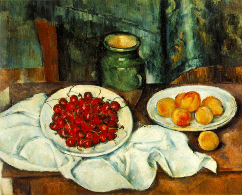 Paul Cezanne. Still life with plate of cherries
