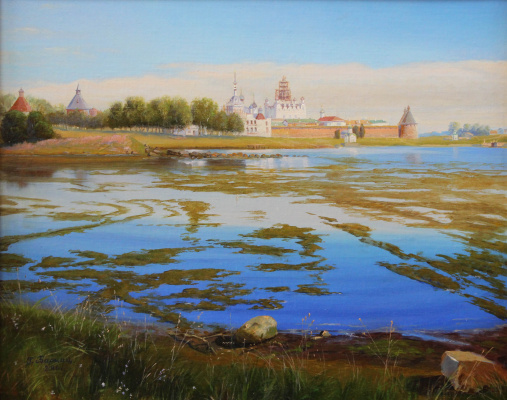 Gennady Shotovich Bartsits. View of the Solovetsky Monastery