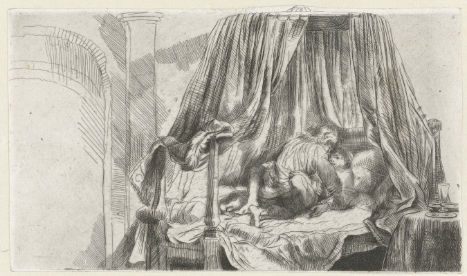 Рембрандт Харменс ван Рейн. Французская постель (Het Ledikant)