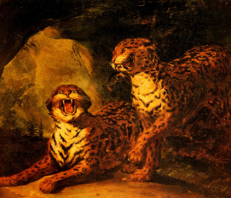 Théodore Géricault. Pair of leopards