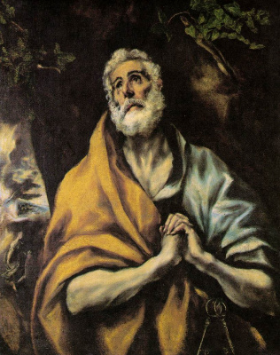 Domenico Theotokopoulos (El Greco). The Repentant Peter