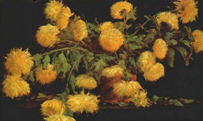 William Merritt Chase. Chrysanthemum