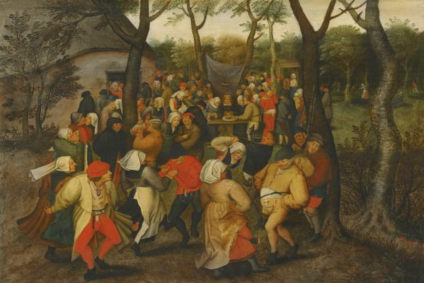 Peter Brueghel The Younger. Wedding dance in nature