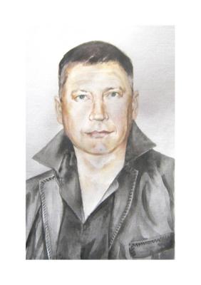 Иван Александрович Долгоруков. Портрет мужчины в кожаном жилете