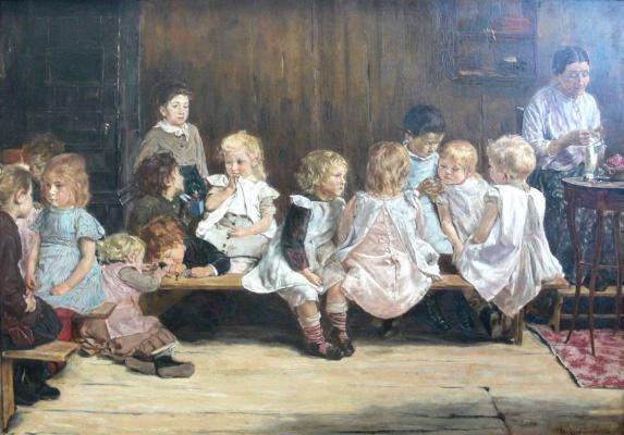 Max Lieberman. Kindergarten in Amsterdam