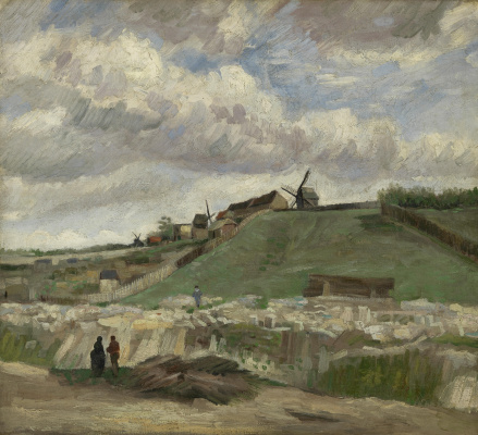 Vincent van Gogh. The hill of Montmartre with quarry and mill