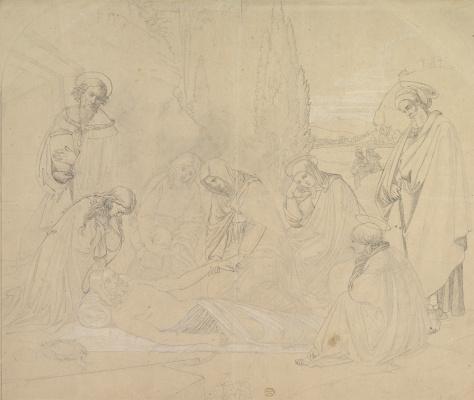Johann Friedrich Overbeck. Crying (Pieta)