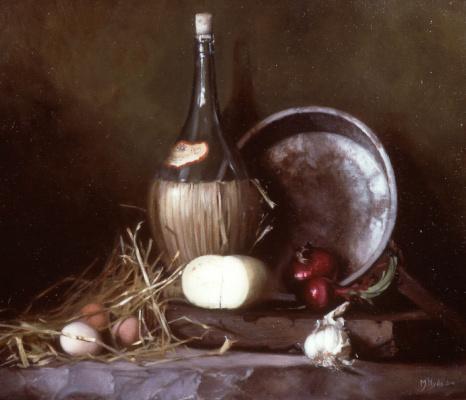 Морин Хайд. Натюрморт с яйцами и сыром