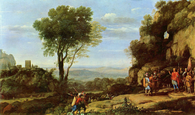 Claude Lorrain. Landscape with David and three heroes