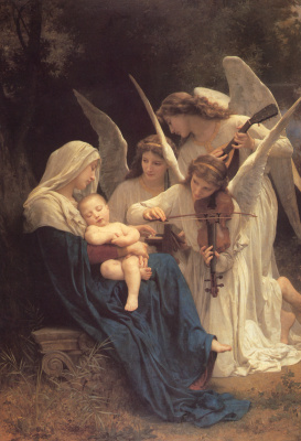 William-Adolphe Bouguereau. Angelic music