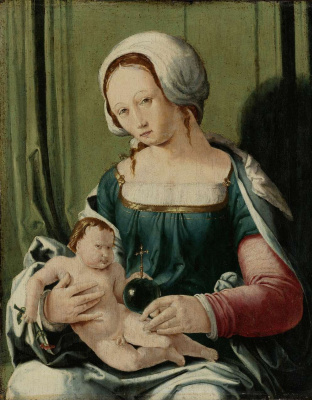 Lucas van Leiden (Luke of Leiden). The Madonna and child