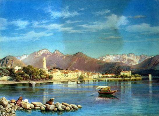 Luigi Premazzi. The View Of Lago Maggiore