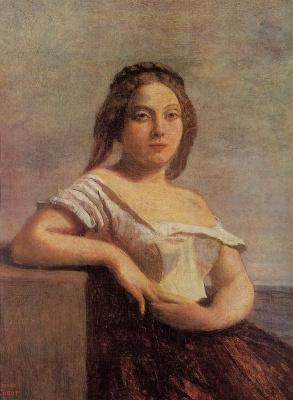 Камиль Коро. Гасконская девушка (Светловолосая гасконка)