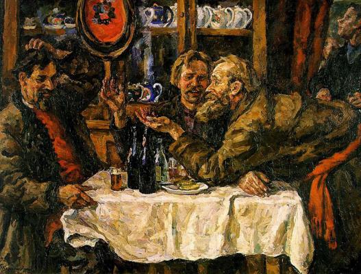 Petr Petrovich Konchalovsky. The Novgorodians