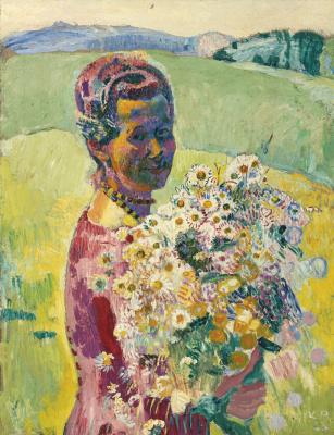 Куно Амье. Женский портрет. Анна Амье с цветами