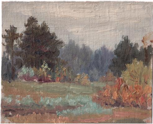 Аркадий Павлович Лаптев. На лесной поляне