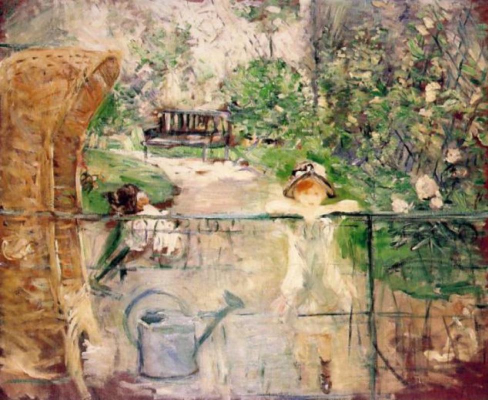 Berthe Morisot. Straw chair
