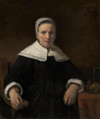 Рембрандт Харменс ван Рейн. Женщина с гвоздикой