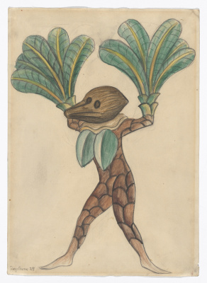"Diego Maria Rivera. Coconut palm. The costumes for the ballet ""Horsepower"""
