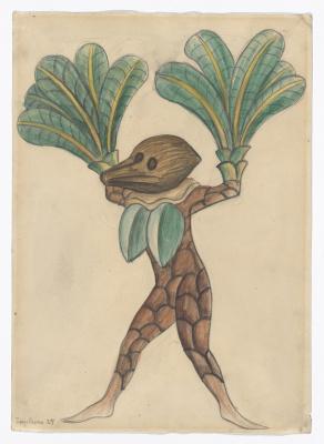 """Диего Мария Ривера. Кокосовая пальма. Костюмы для балета """"Лошадиная сила"""""""