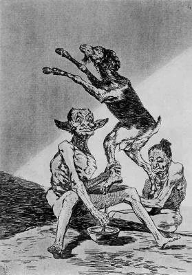 Francisco Goya. Series Los Caprichos, sheet 67: Wait, you podmazhesh