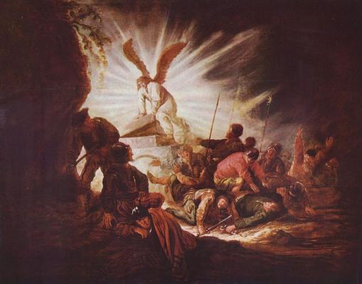 Бенджамин Герритц Кейп. Ангел, открывающий гробницу Христа