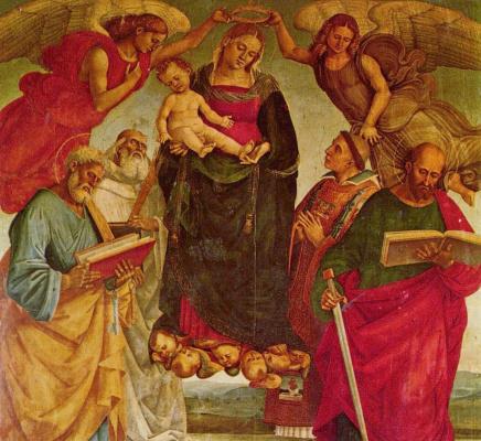 Лука Синьорелли. Коронование Марии