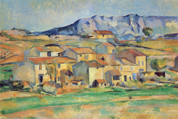Paul Cezanne. The mount of St. Victoria (Sainte Victoire) from the surrounding area Gardanne