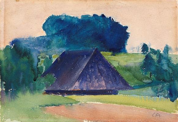 Cuno Amiè. Landscape with peasant house