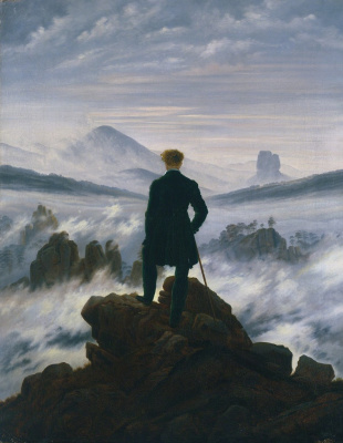 Caspar David Friedrich. Wanderer above the Sea of Fog