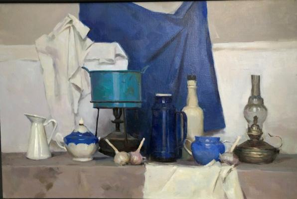 "Natalia Sergeevna Suprun. Still life ""White with variations of blue"""