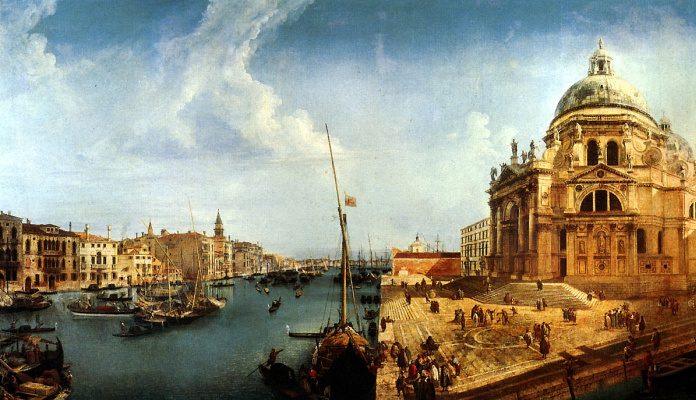 Микеле Мариески. Вид на Большой канал и церковь Санта-Мария