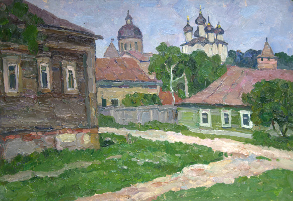 Boris Petrovich Zakharov. In the old Zaraysk. Etude.