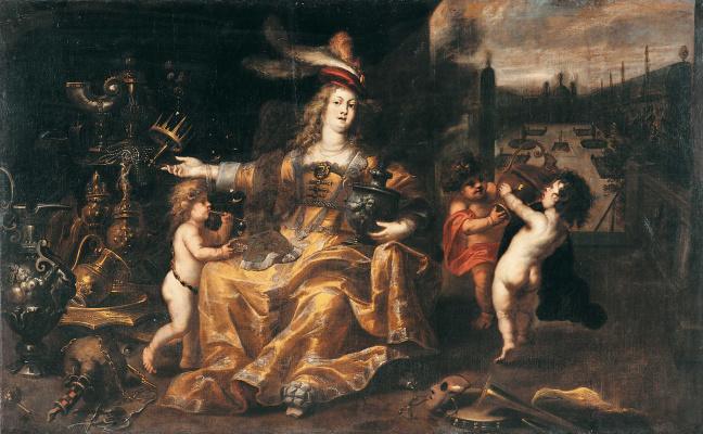 Ян (Лангеян) Букхорст. Аллегория богатства и власти