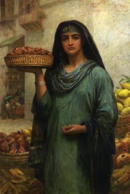 Edwin Longsden Long. Egyptian girl