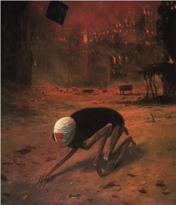 Zdzislaw Beksinsky. Plot 105