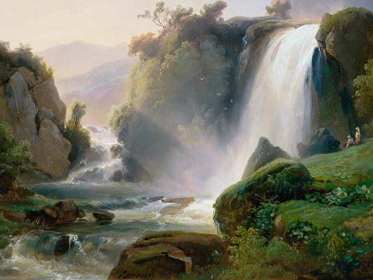 Джозеф Жан Шарль Ремонд. Водопад в Тиволи