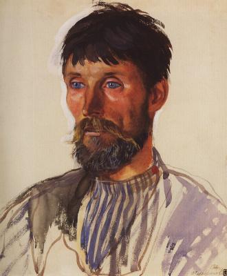 Zinaida Serebryakova. Portrait of peasant I. D. Golubev
