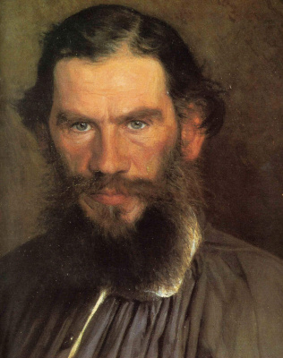 Ivan Nikolayevich Kramskoy. A portrait of the writer Leo Tolstoy. Fragment