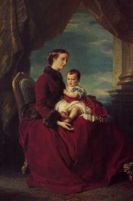 Franz Xaver Winterhalter. The Empress Eugenie Holding Company Louis-Napoleon