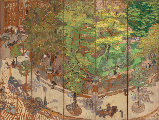 Jean Edouard Vuillard. Square Vintimille. Patanella screen for margaritas Shape
