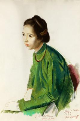 Alexander Yakovlev. Portrait of a Vietnamese princess